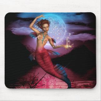 Magical Mermaid Moon Mouse Pad