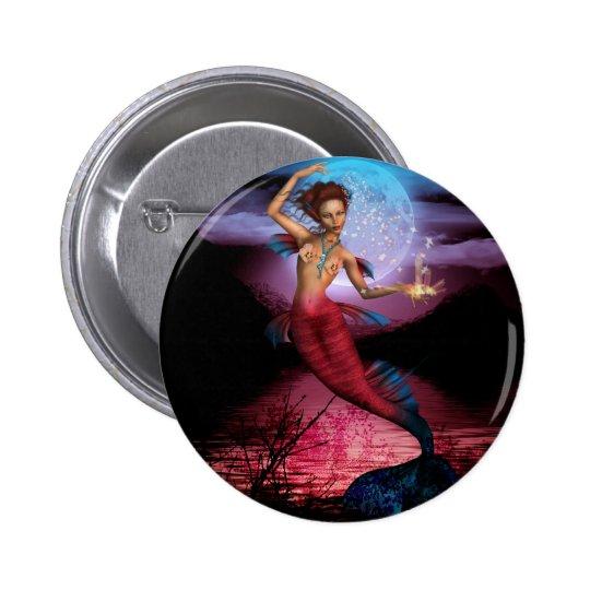 Magical Mermaid Moon Pinback Button