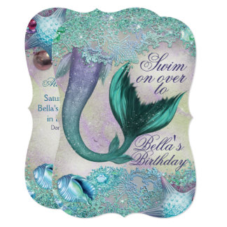 Magical Mermaid Party Invitations