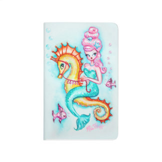 Magical Mermaid with Pink Bouffant Journal
