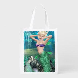 Magical Mermaid Grocery Bags