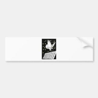 Magical Messenger Owl Car Bumper Sticker