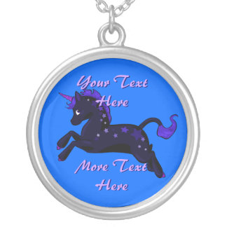 Magical Midnight Black Unicorn Necklace