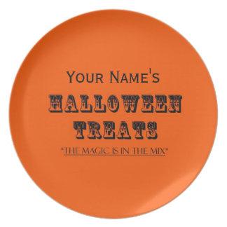 Magical Mix Halloween Treats Customizable Plate