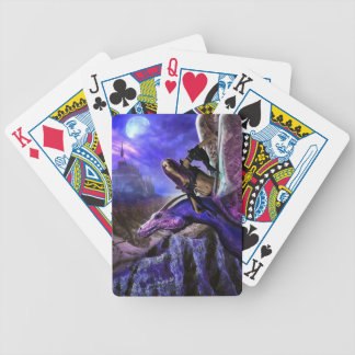 Magical Moonlight Dragon Rider Fantasy Castle Bicycle Playing Cards