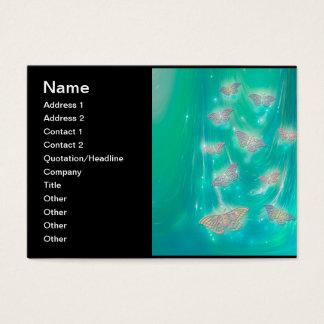 Magical Moths Fantasy Art Business Card