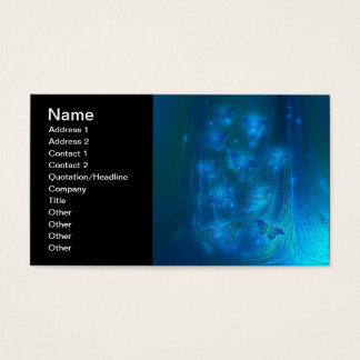 Magical Moths in Blue Business Card
