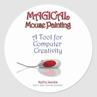 Magical MousePainting™ Classic Round Sticker