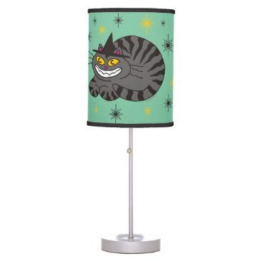 Halloween Themed Magical Mr. Midnight on Mint Green Table Lamp