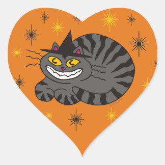 Magical Mr. Midnight on Orange Heart Sticker