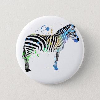 Magical Multi Coloured Zebra Spray Paint style Button