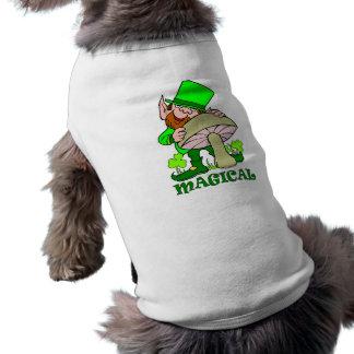 Magical mushroom St Patricks Day Gift Doggie T-shirt