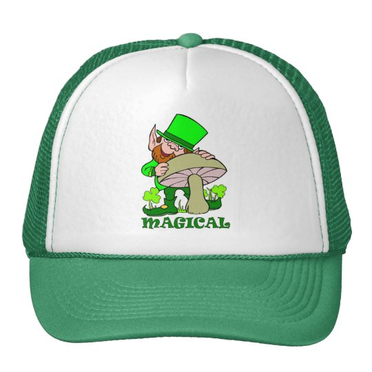 Magical mushroom St Patricks Day Gift Trucker Hat