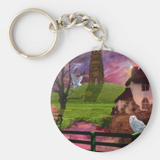Magical mystery tor... basic round button keychain
