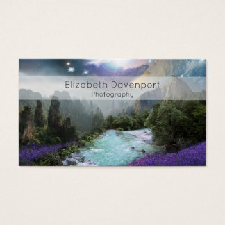 Magical Nature Landscape with Rushing Water Business Card