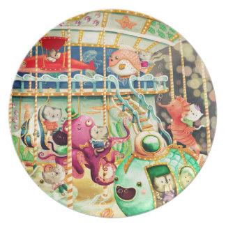 Magical Nautical Carousel Dinner Plates