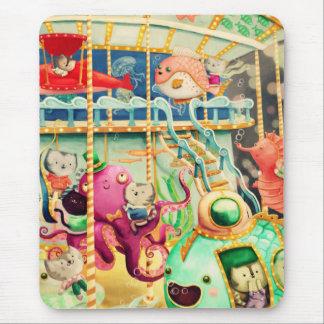 Magical Nautical Carousel Mousepads