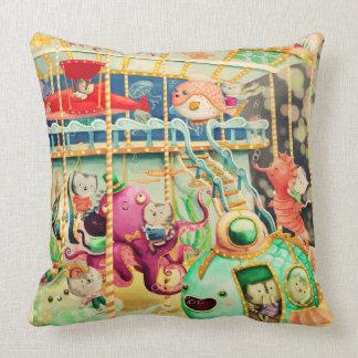 Magical Nautical Carousel Throw Pillows