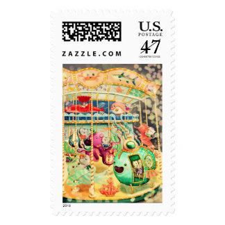 Magical Nautical Carousel Postage Stamp