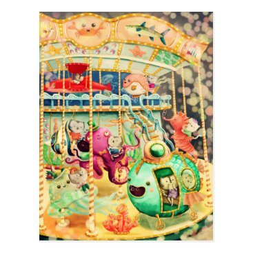 colonelle Magical Nautical Carousel Postcard