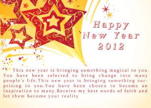 magical new year 2012 holiday card