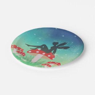 Magical Night Garden Paper Plate & Fairy Garden Plates | Zazzle