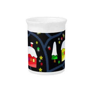 Magical night landscape beverage pitchers
