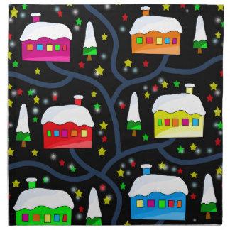 Magical night landscape cloth napkin