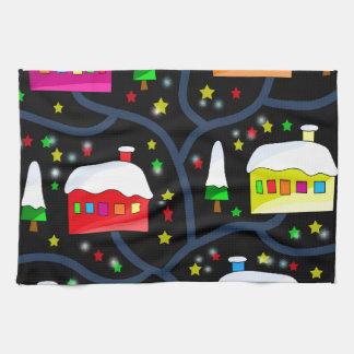 Magical night landscape towels