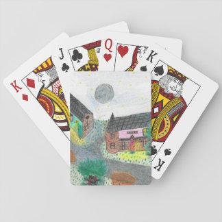 Magical Night Nighttime Scene Playing Cards