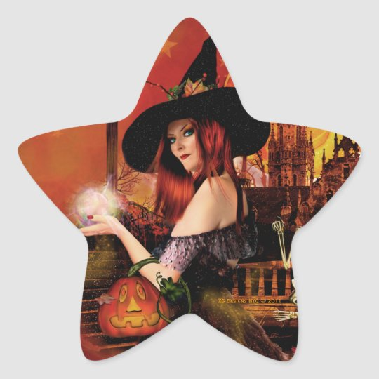 Magical Night Witch Star Stickers