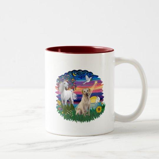 Magical Night - Yellow Labrador Two-Tone Coffee Mug