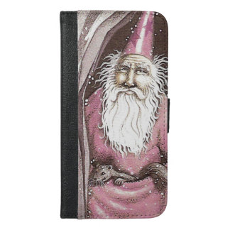 Magical Old Wizard Elf Magic Wand Star iPhone 6/6s Plus Wallet Case