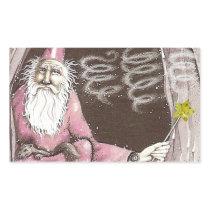Magical Old Wizard Elf Magic Wand Star Rectangular Sticker