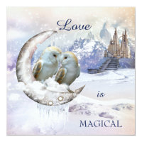 Magical Owl Winter Wonderland Wedding Invitation