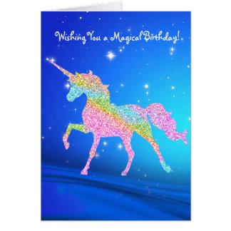 Magical Pastel Rainbow Unicorn Birthday Card