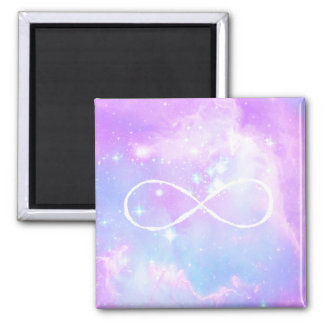 Magical pastel space galaxy 2 inch square magnet
