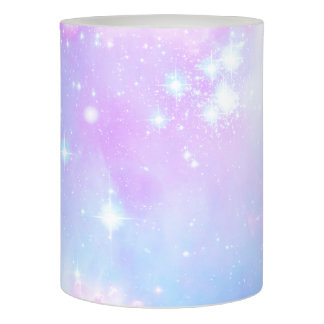 Magical pastel space galaxy flameless candle