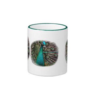 Magical peafowl art in nature mug