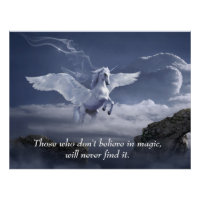 Magical Pegasus Inspirational Motivational Quote Poster