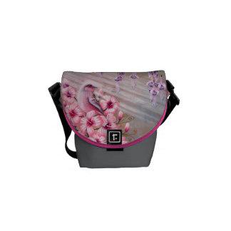 Magical Pink Bird Handbag Courier Bag