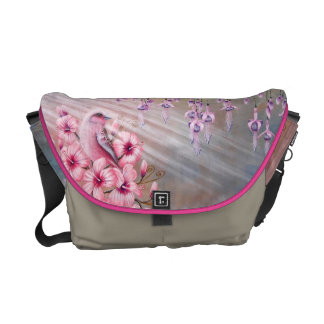 Magical Pink Bird Handbag Messenger Bag