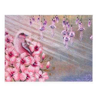 Magical Pink Bird Postcard