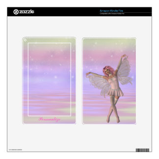 Magical Pink Fairy Personalized Kindle Skin