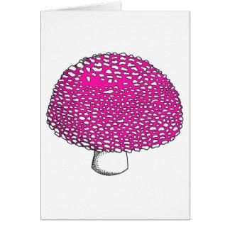 Magical Pink Mushroom Fungus Card