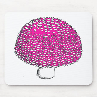 Magical Pink Mushroom Fungus Mouse Pad