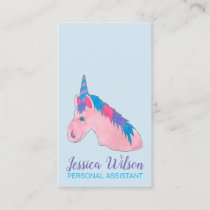 Magical Pink Purple Mythical Horse Unicorn Love Business Card