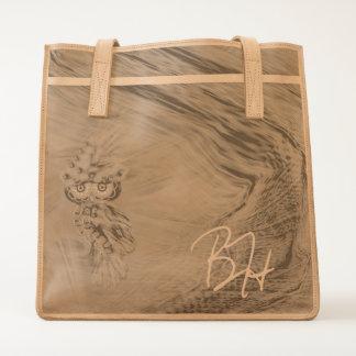 Magical Plumage Fashion Owl Leather Tote Bag