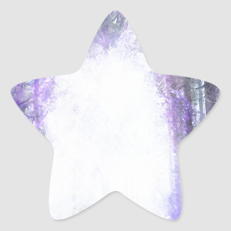 Magical Portal in the Forest Star Sticker