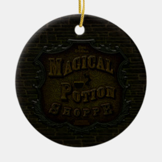 Magical Potion Shoppe Double-Sided Ceramic Round Christmas Ornament